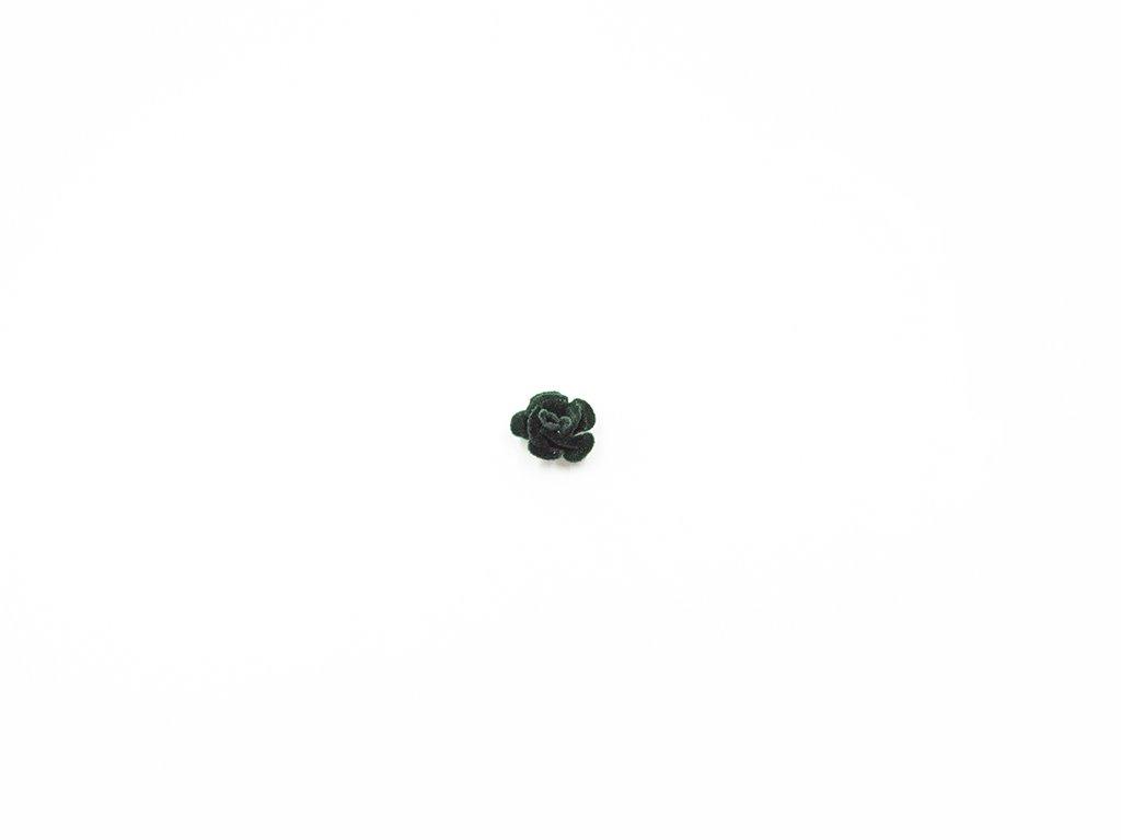 Květ kov samet zelený (průměr 1.5cm x hloubka 1cm) 5Kč