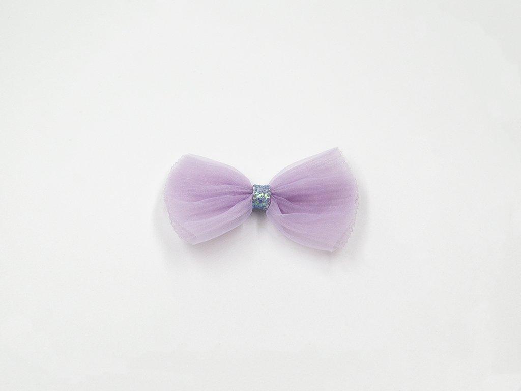 Mašle organzová fialová velká (š7.5 x v5cm) 25Kč