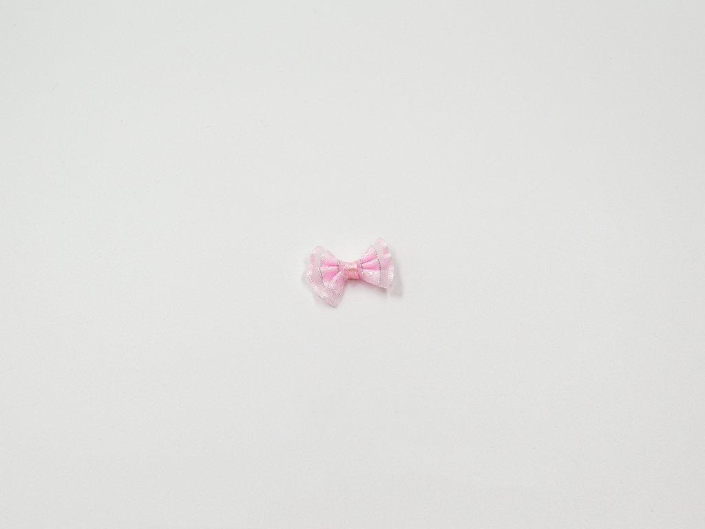 Mašlička šifonová růžová velká (š2.5 x v2cm) 8Kč