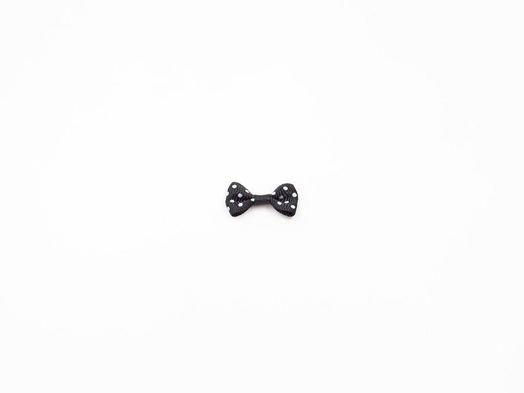 Mašlička taftová černá s bílými puntíky (š3 x v1.5 cm ) 8 Kč