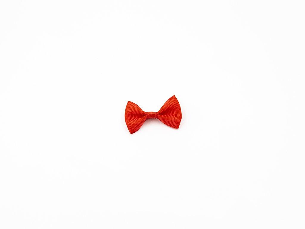 Mašlička taftová červená (š3.7 x v2.5 cm) 10Kč