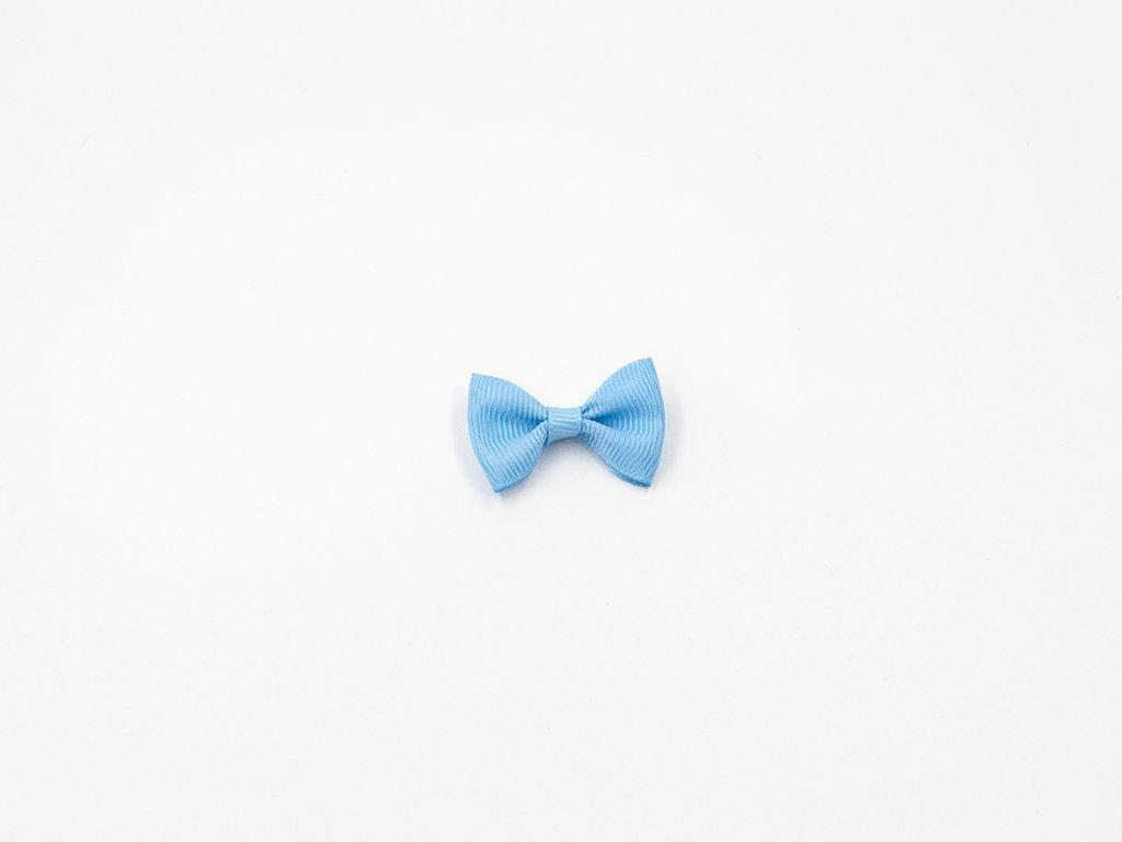 Mašlička taftová modrá (š3.7 x v2.5 cm) 10Kč