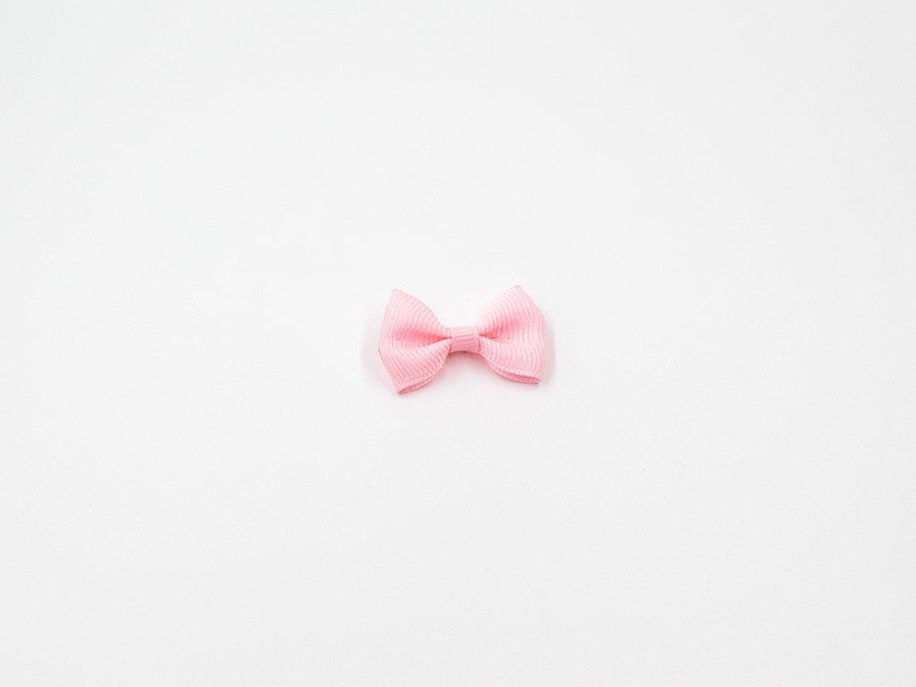 Mašlička taftová růžová (š3.7 x v2.5 cm) 10Kč