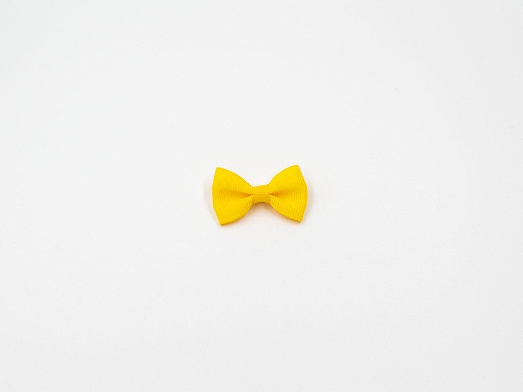 Mašlička taftová žlutá (š3.7 x v2.5 cm) 10Kč