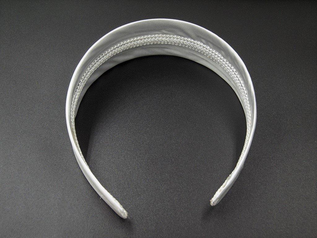 Čelenka pevná široká stříbrná