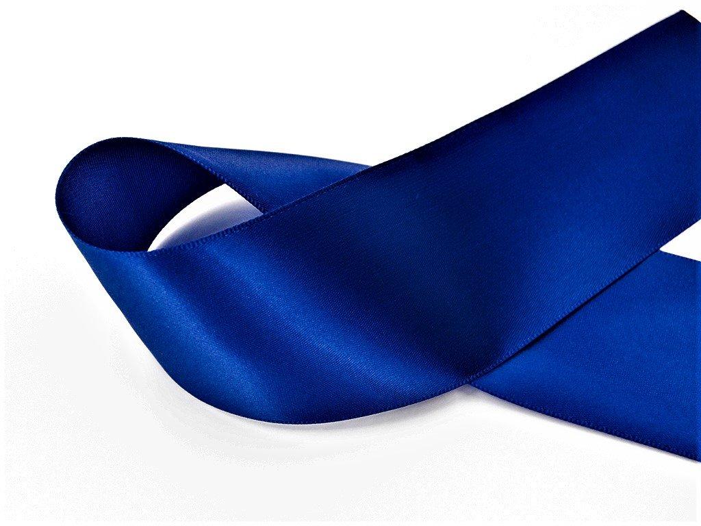 Stuha satén královská modrá 3,8 cm