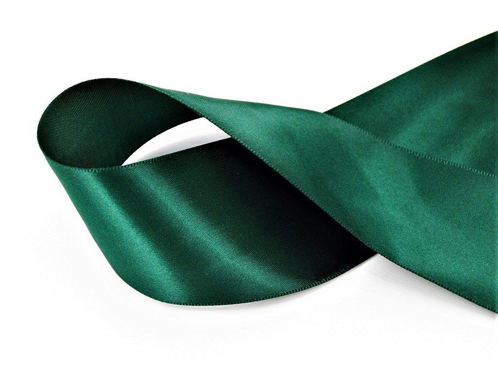 Stuha satén lahvově zelená 3,8 cm