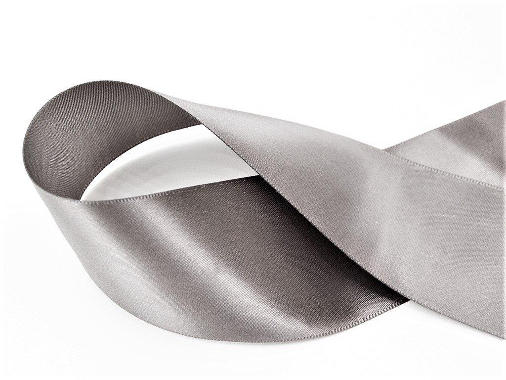 Stuha satén šedá 1,8 cm