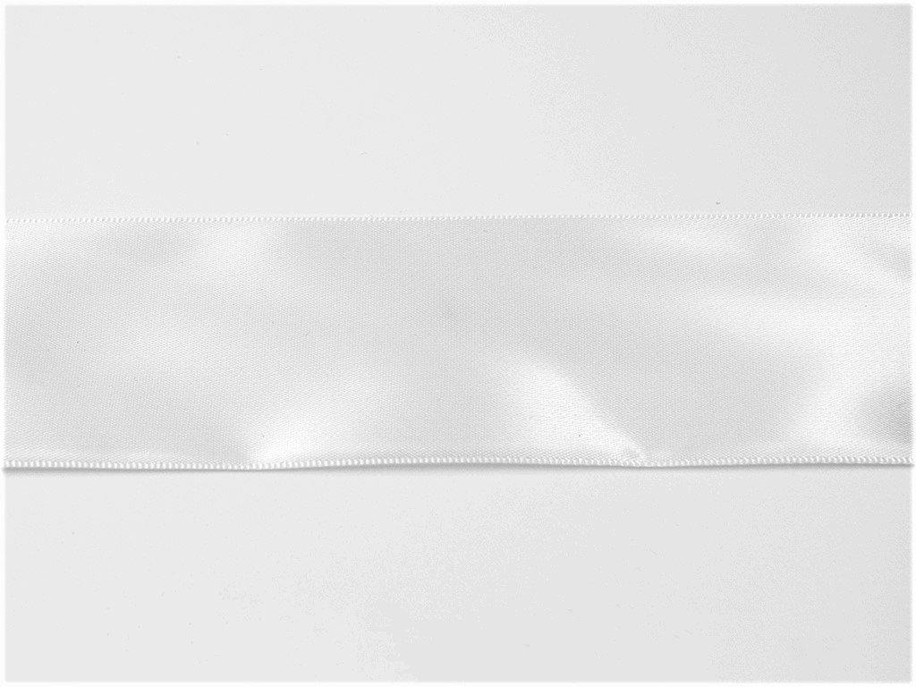 Stuha satén bílá 0,9 cm