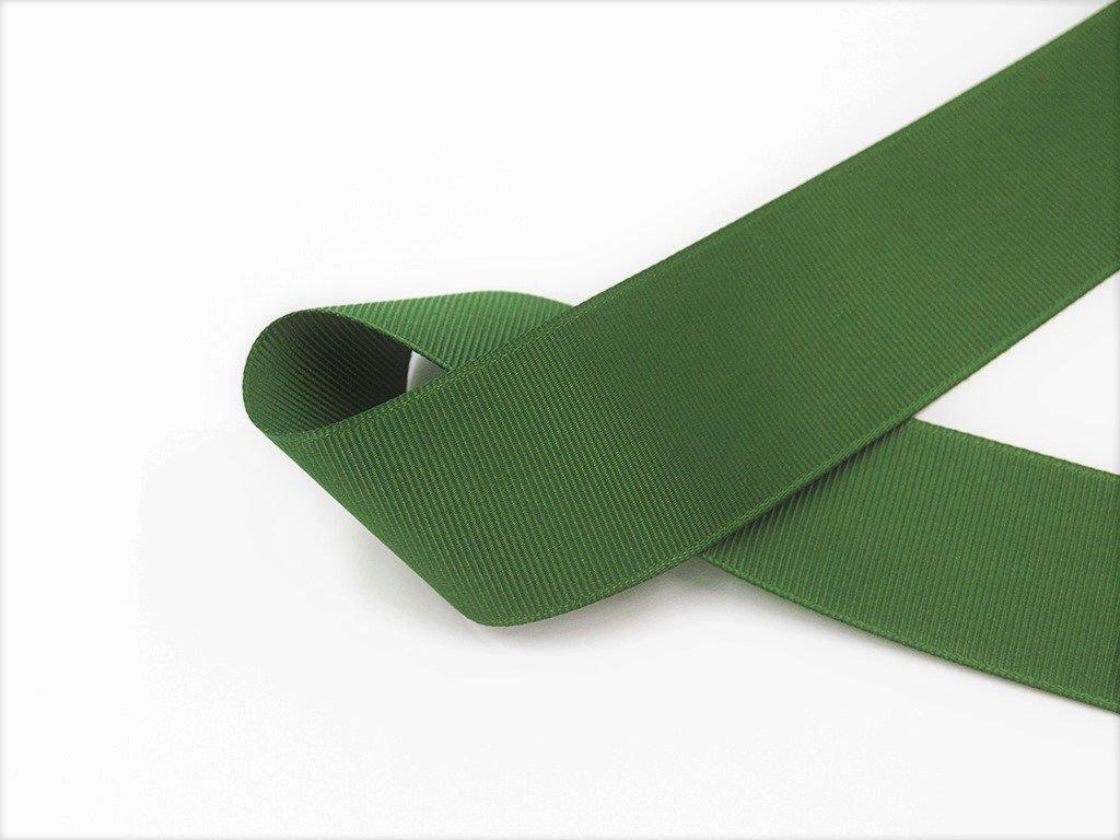 Stuha taftová myslivecká zelená 3,8 cm