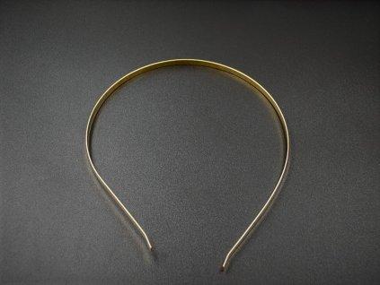 Čelenka kovová zlatá