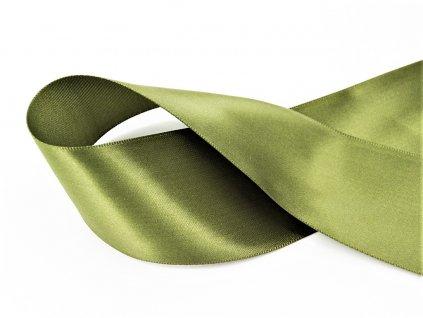 Stuha satén zelená 3,8 cm