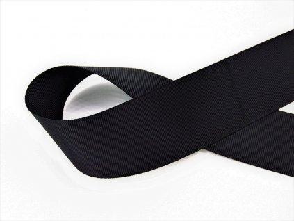 Stuha taftová černá 3,8 cm