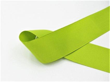 Stuha taftová jarní zelená 5 cm