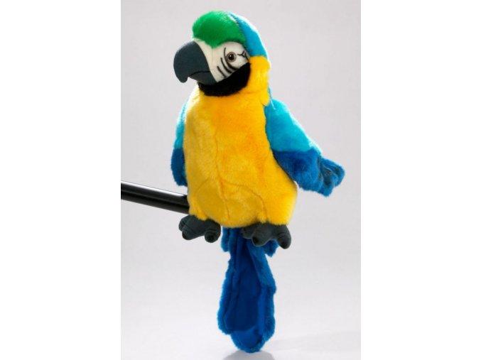 Plyšový papoušek maňásek 25 cm - plyšové hračky