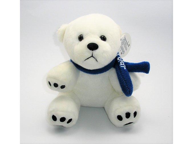 Plyšový lední medvěd se šálou 20 cm - plyšové hračky