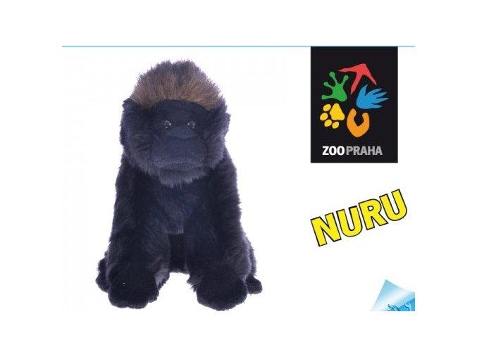 Plyšová gorila Nuru 17 cm - plyšové hračky