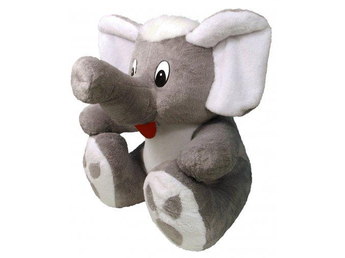Plyšový slon Bimbo 60 cm, šedý - plyšové hračky