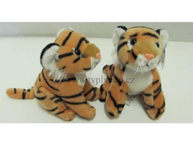 Plyšový tygr hnědý 14cm - plyšové hračky