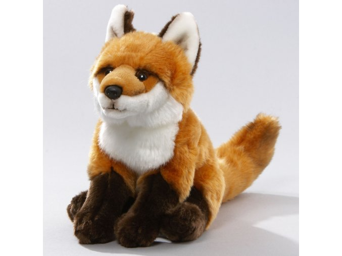 Plyšová liška sedící 25 cm - plyšové hračky