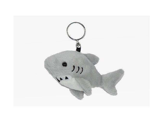 Plyšový žralok klíčenka 10 cm - plyšové hračky