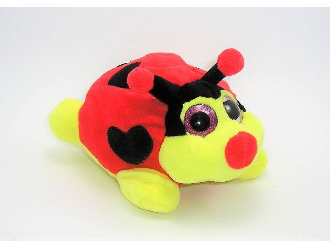 Plyšová beruška 19 cm - plyšové hračky