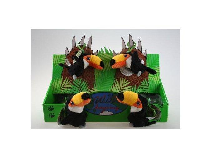 Plyšový tukan klíčenka 10 cm - plyšové hračky