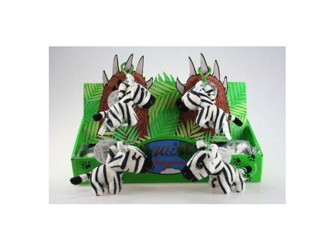 Plyšová zebra klíčenka 11 cm - plyšové hračky