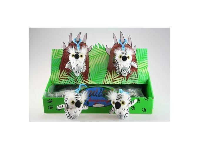 Plyšová sova klíčenka 8 cm - plyšové hračky