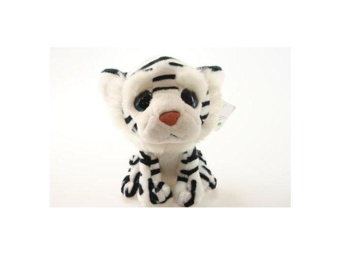 Plyšový tygr bílý 20 cm - plyšové hračky