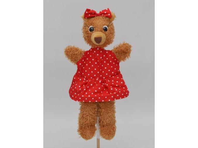 Maňásek medvěd máma 33 cm - maňásci
