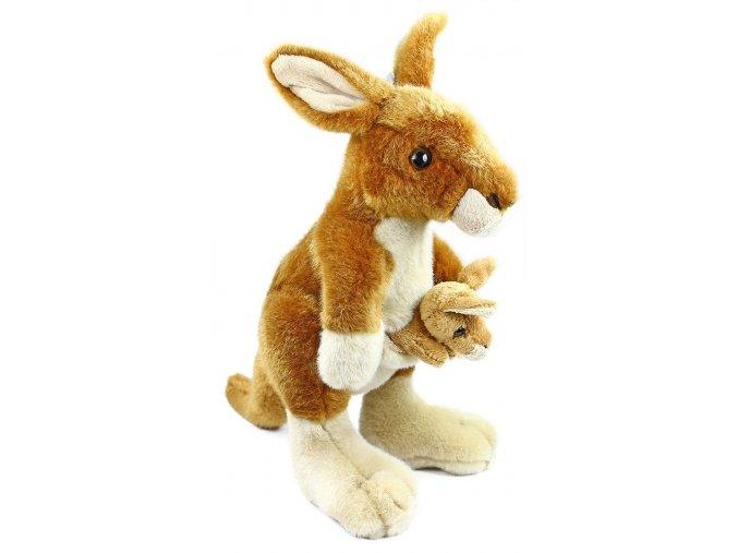 Plyšový klokan s mládětem 26 cm - plyšové hračky