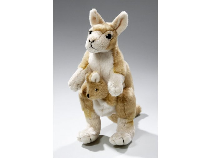 Plyšový klokan s mládětem 24 cm - plyšové hračky