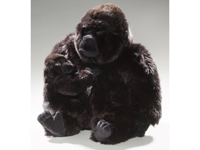 Plyšová gorila s mládětem 30 cm - plyšové hračky