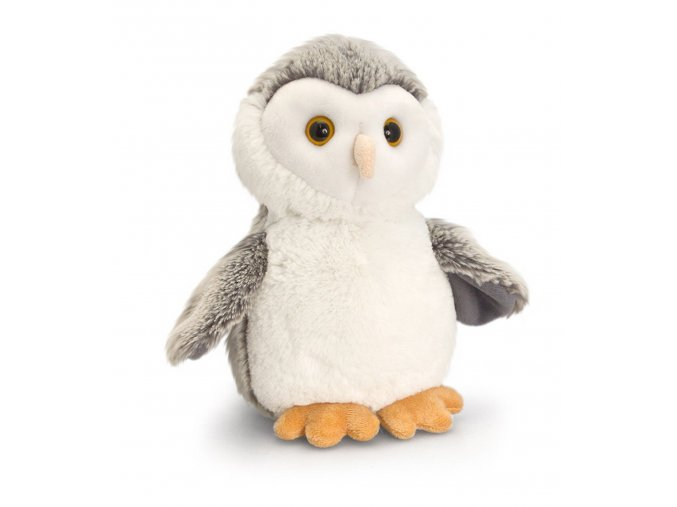 keel toys wild woodland animals 18cm white owl cuddly soft toy plush teddy 12718 p