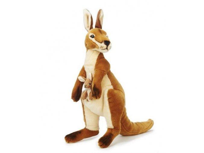 Plyšový klokan s mládětem 44cm - plyšové hračky