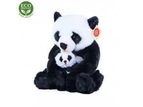 Plyšová panda s mládětem 27 cm - plyšové hračky