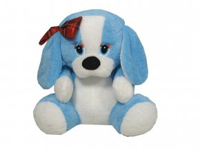 Plyšový pes s mašlí 39cm - plyšové hračky