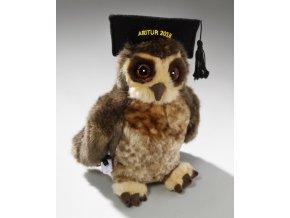 Plyšová sova moudrá absolvent 23 cm - plyšové hračky
