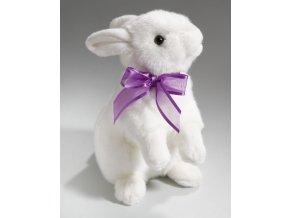 Plyšový králík s mašlí 25 cm - plyšové hračky