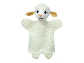 Plyšová ovečka maňásek 26cm - plyšové hračky