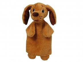 Plyšový pejsek maňásek 28cm - plyšové hračky