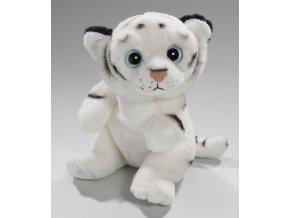Plyšový tygr bílý 15 cm - plyšové hračky