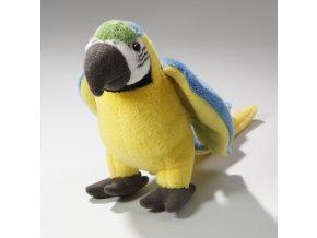 Plyšový papoušek 16 cm - plyšové hračky