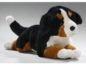 Plyšový pes Bernský salašnický ležící 32cm - plyšové hračky