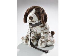 Plyšový lovecký pes s obojkem 27 cm - plyšové hračky