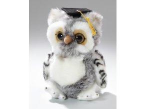 Plyšová sova absolvent 22 cm - plyšové hračky