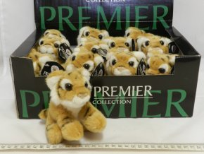 Plyšový tygr hnědý 15cm - plyšové hračky