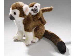 Plyšová opice kotul s mládětem 20 cm - plyšové hračky