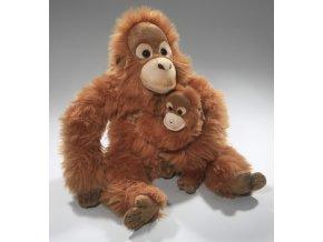 Plyšový orangutan s mládětem 28cm - plyšové hračky